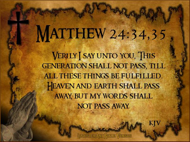 matthew 24 34 35